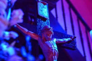 Gemeinsam die Osternacht in der Kirche verbracht